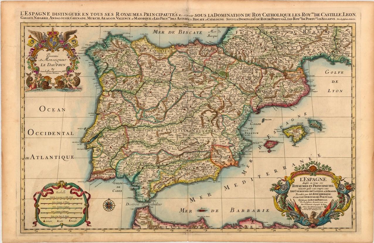 Historic Map of Spain  Dateman Books